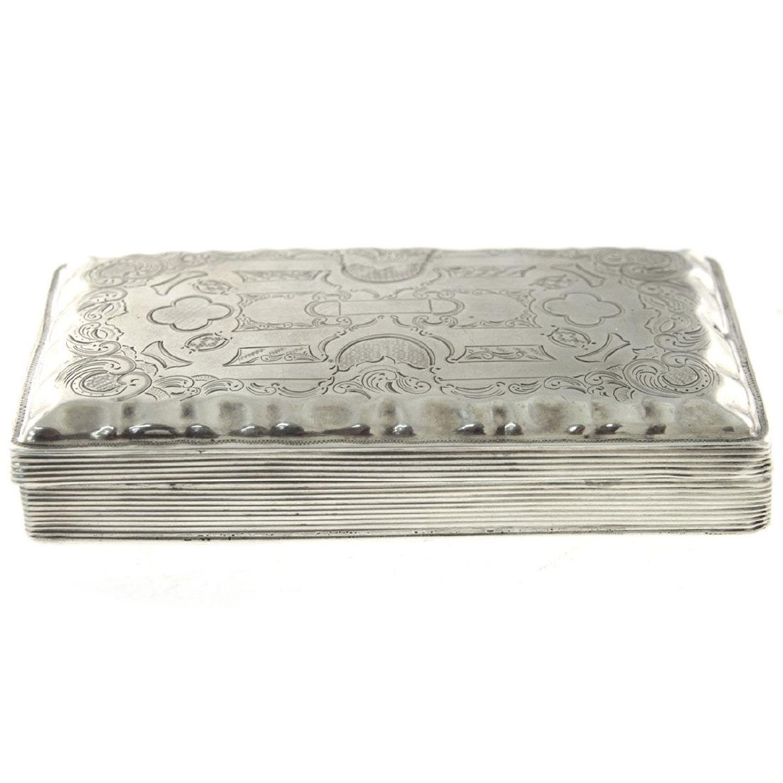 Dutch Silver Tobacco Snuff Box, 1860.