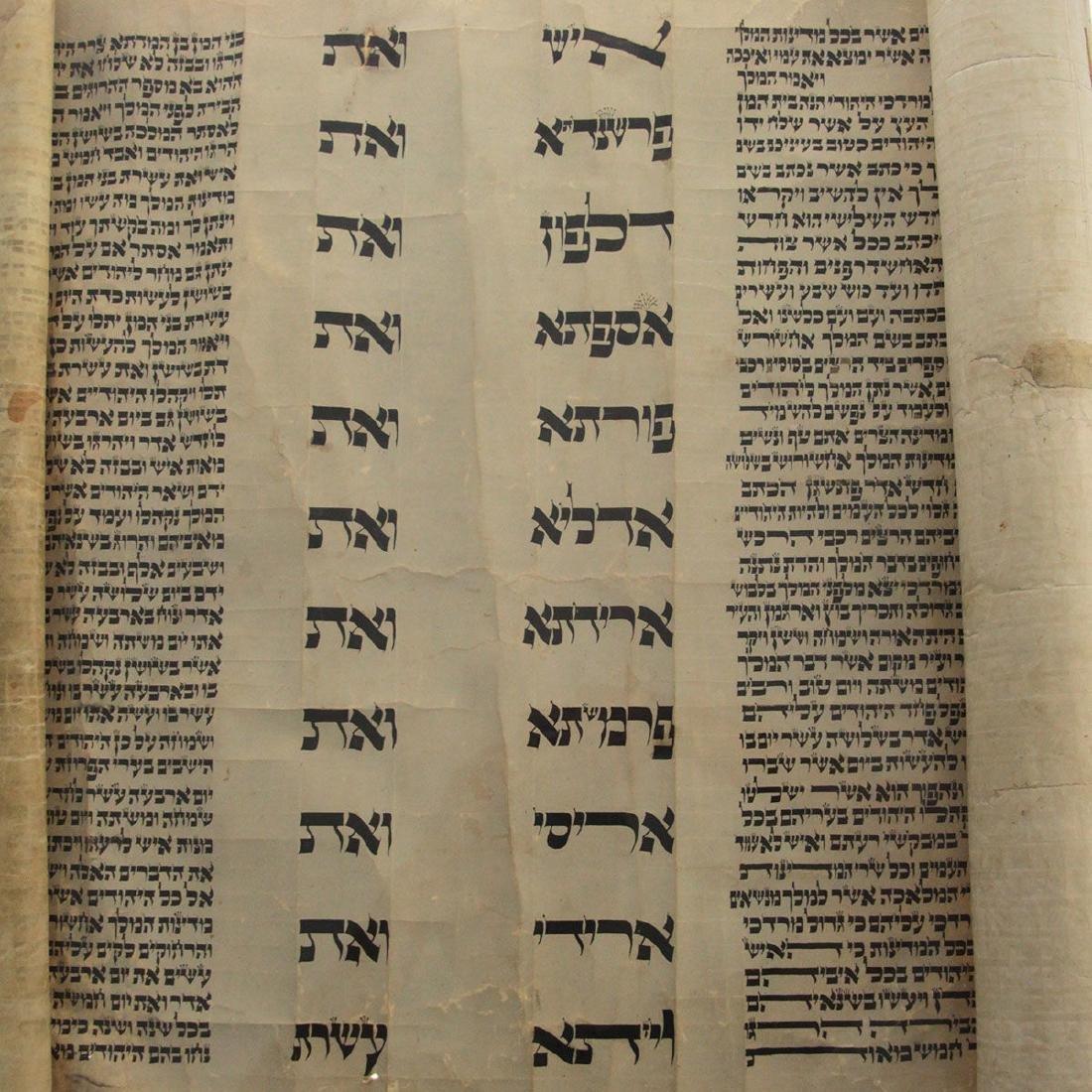 Esther Scroll Megillah on parchment, Poland, Circa - 2