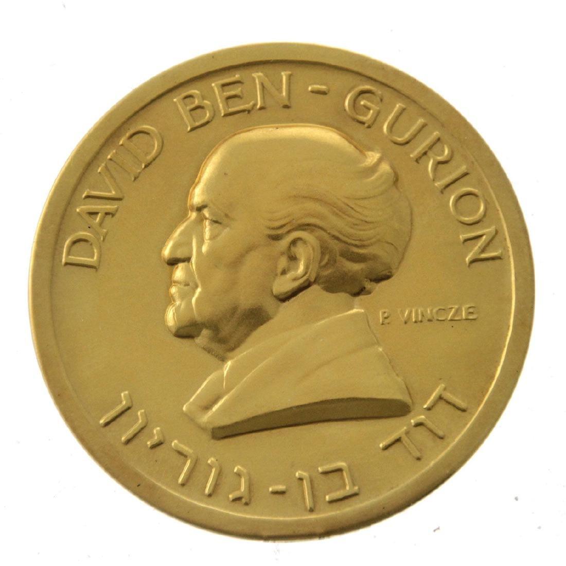 David Ben Gurion 24k Gold Medal.