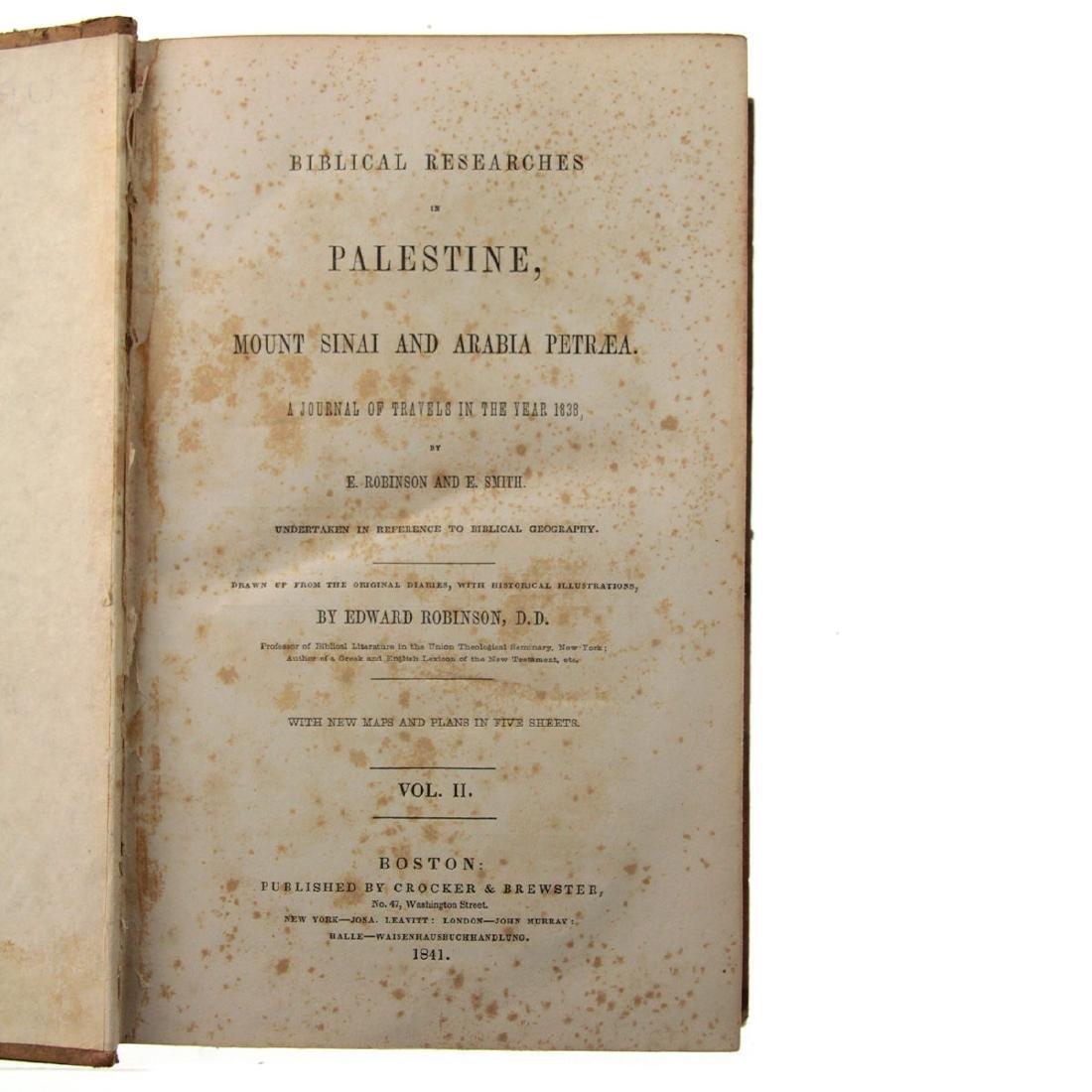 Biblical Researches in Palestine, Edward Robinson, - 3