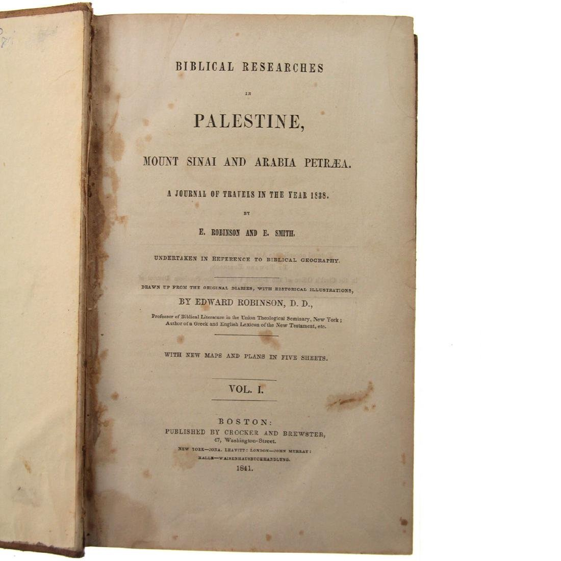 Biblical Researches in Palestine, Edward Robinson, - 5