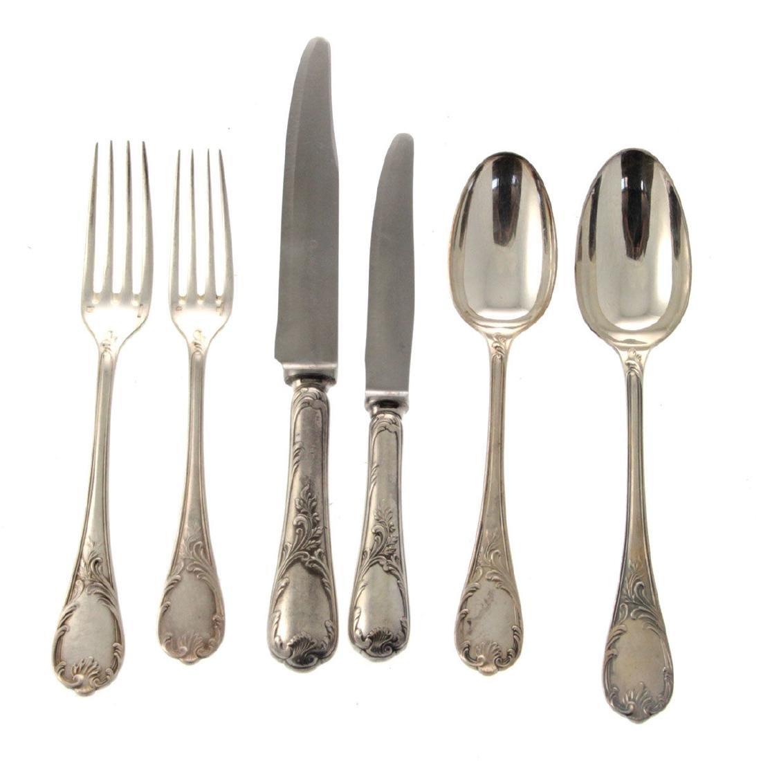 Christofle 65pcs Silver Plated Flatware Cutlery Set, - 2