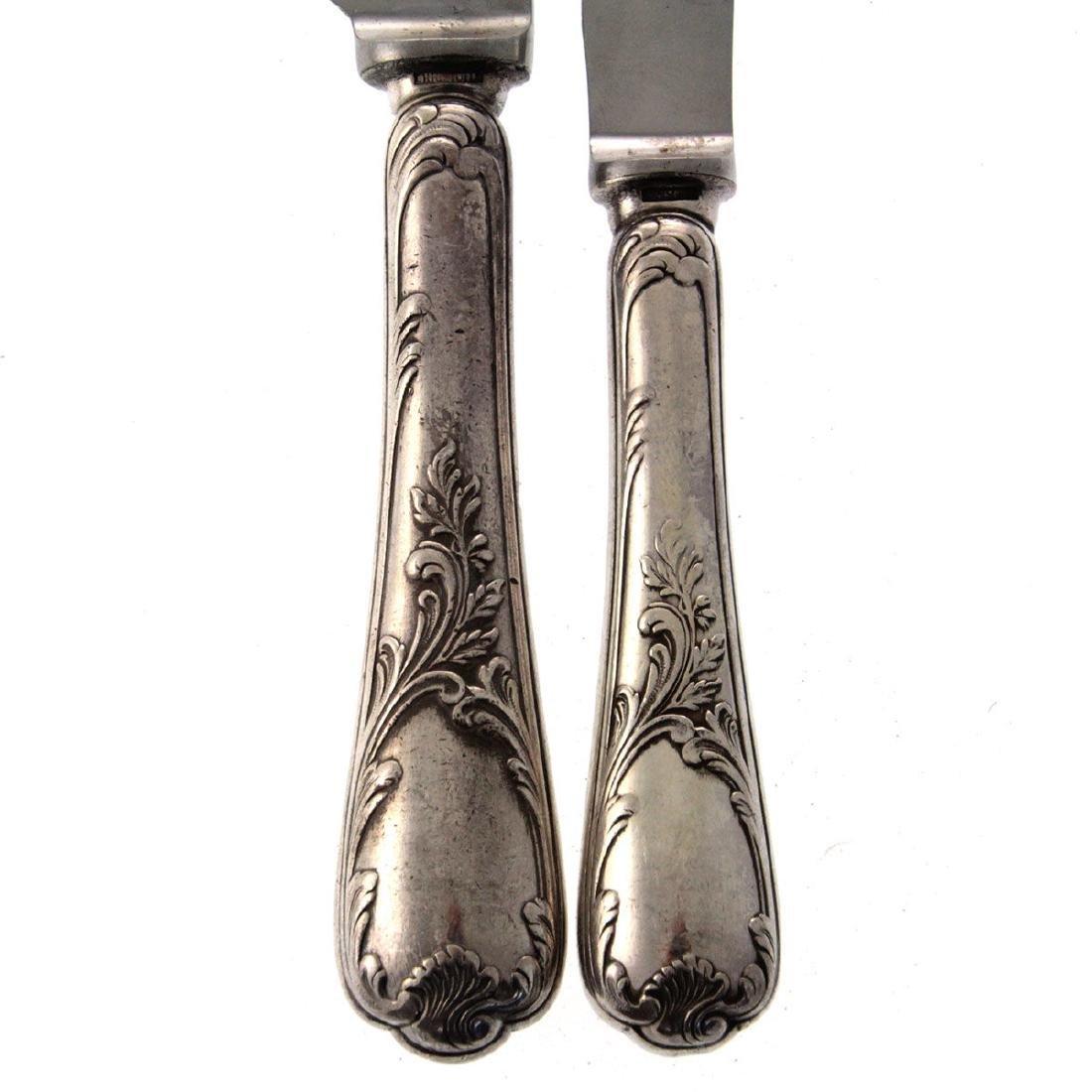 Christofle 65pcs Silver Plated Flatware Cutlery Set, - 4