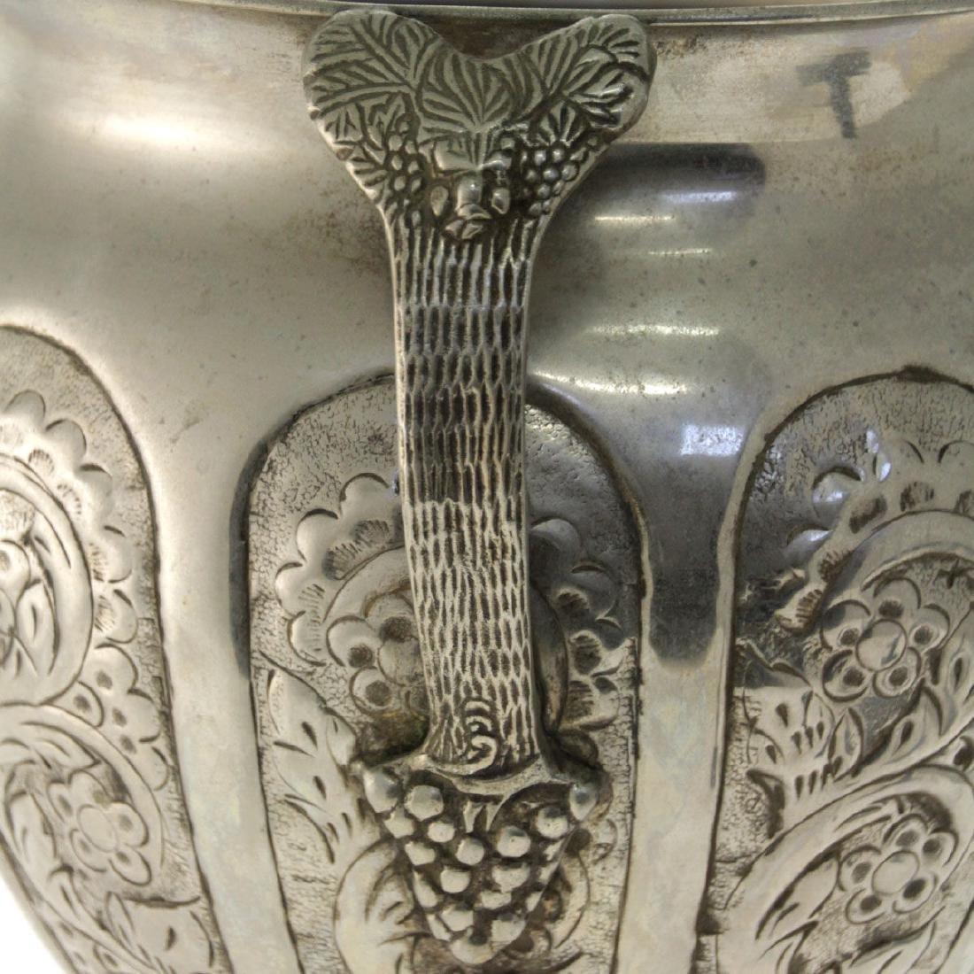 Large Oriental Silver Plated Trophy / Vase. - 3