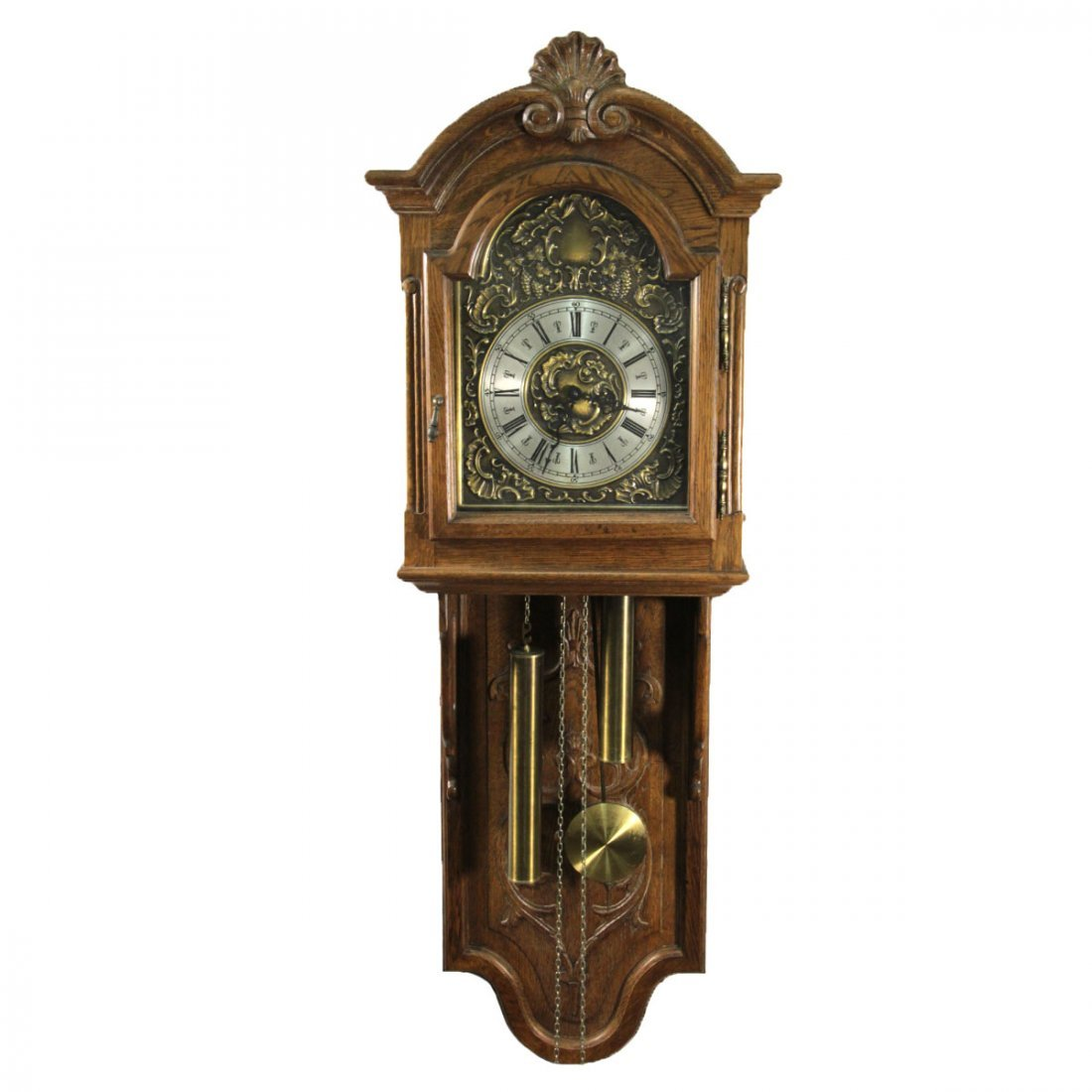 Antique Wooden Hanging Pendulum Clock.