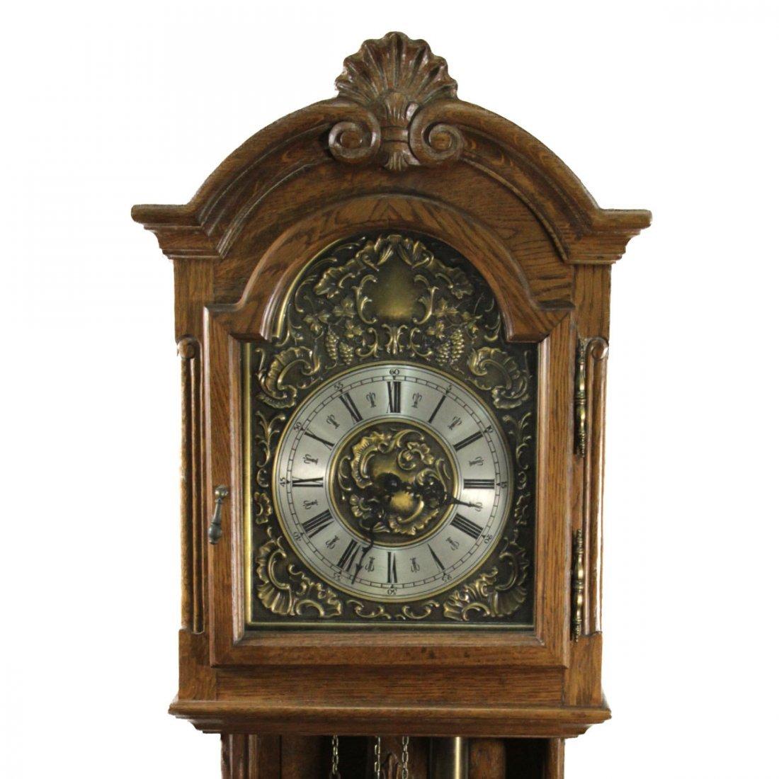 Antique Wooden Hanging Pendulum Clock. - 2