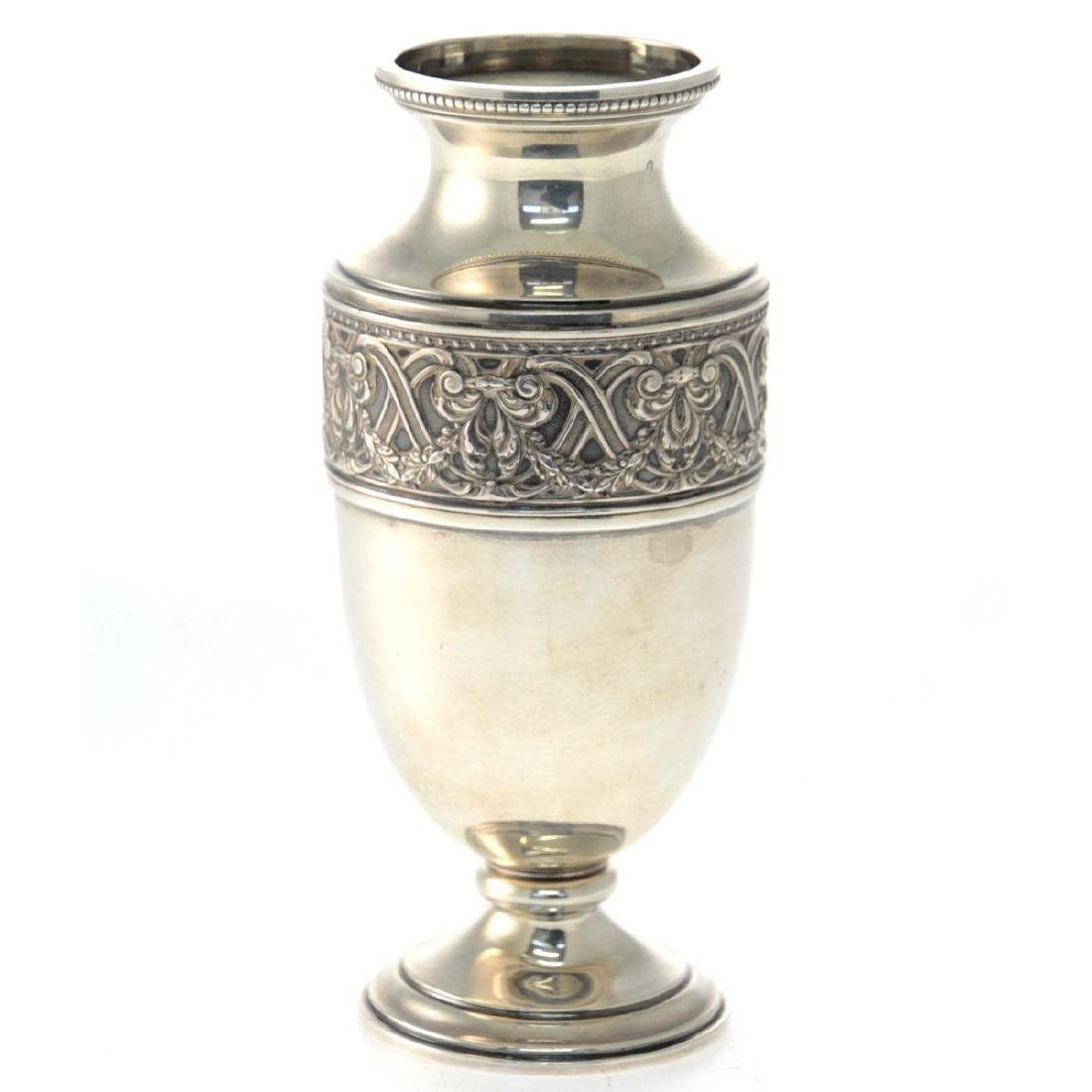 Olier & Caron French Sterling Silver Vase Paris 1910-36