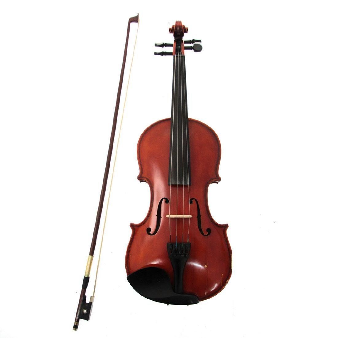 Violin with Bow and Case, Made in Italy.