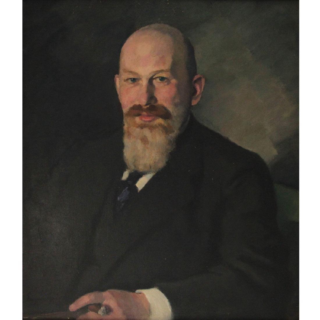 Eugen Spiro (1874-1972) - Isaac Ephraim Portrait, Oil