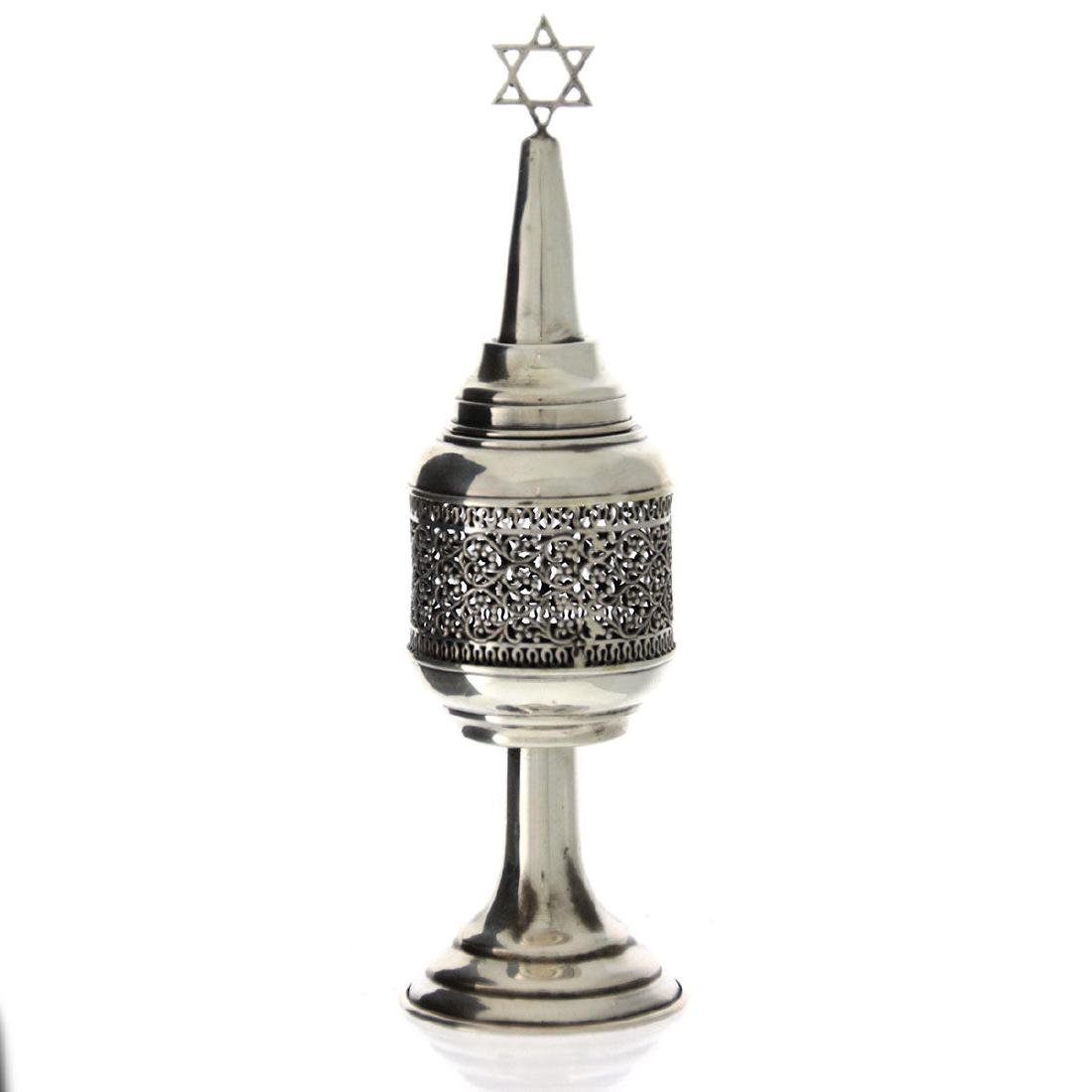 Sterling Silver Spice Tower Box, Judaica.