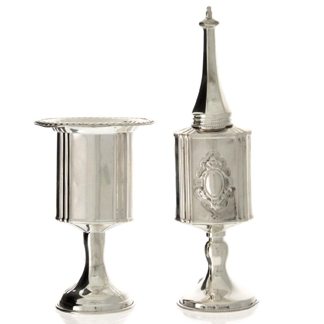 Hazorfim Sterling Silver Havdallah Set, Judaica.