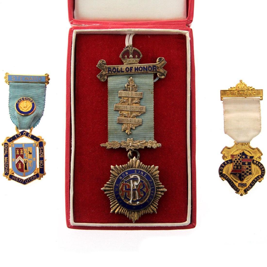 Three Masonic Medals.