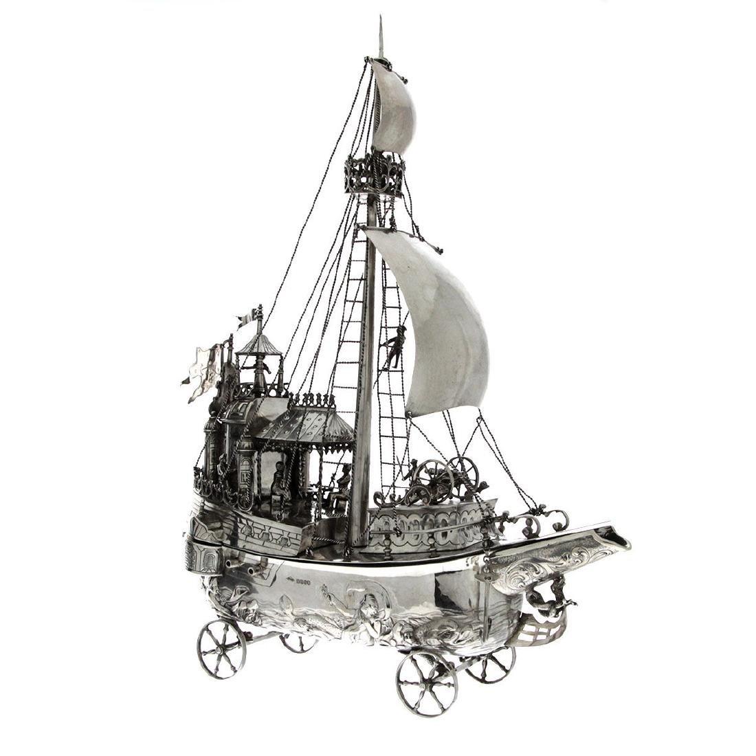 Rare Silver Model of a Galleon Nef, Karl Kurz,