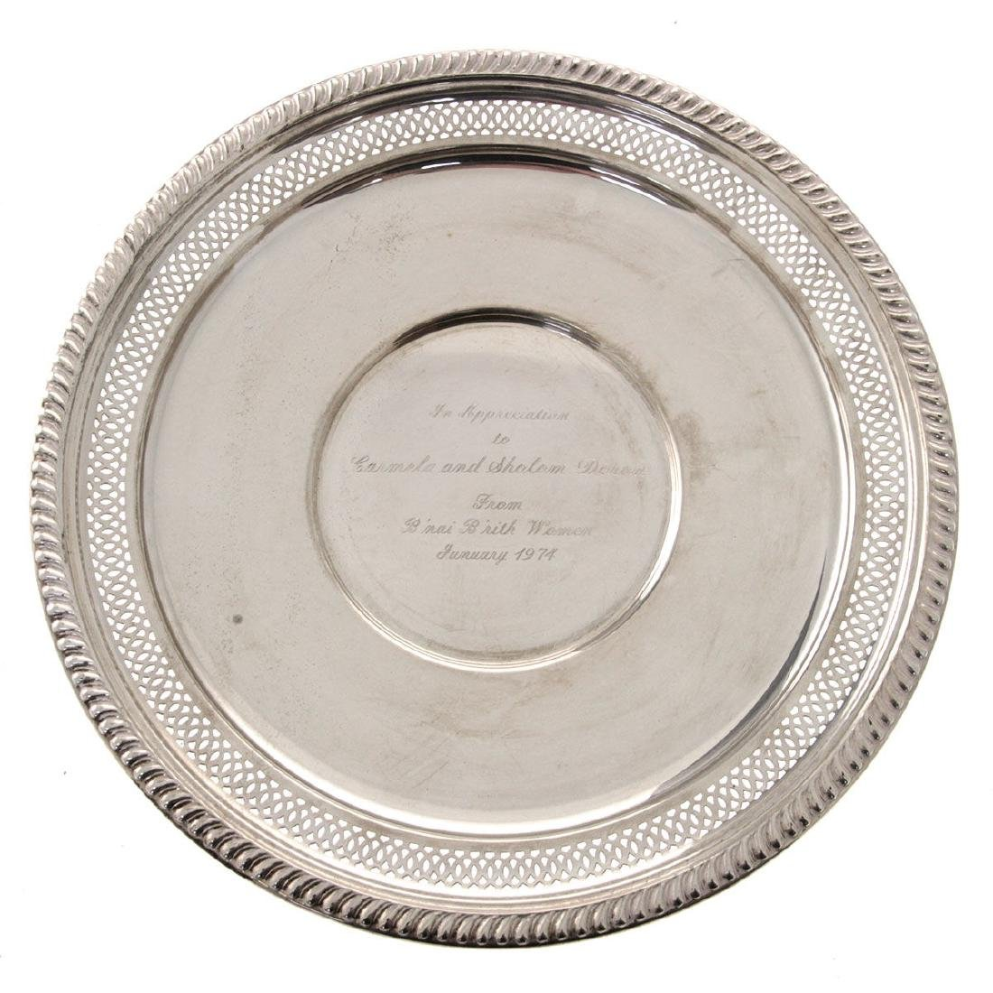 American Sterling Silver Dish by Empire with Dedication