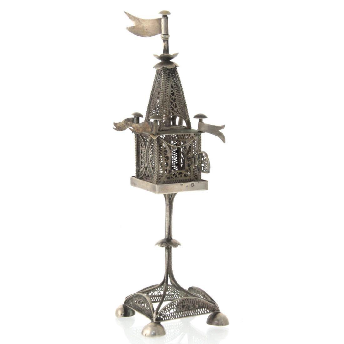Silver Spice Tower Besamim, Vienna, Austro-Hungary, - 2