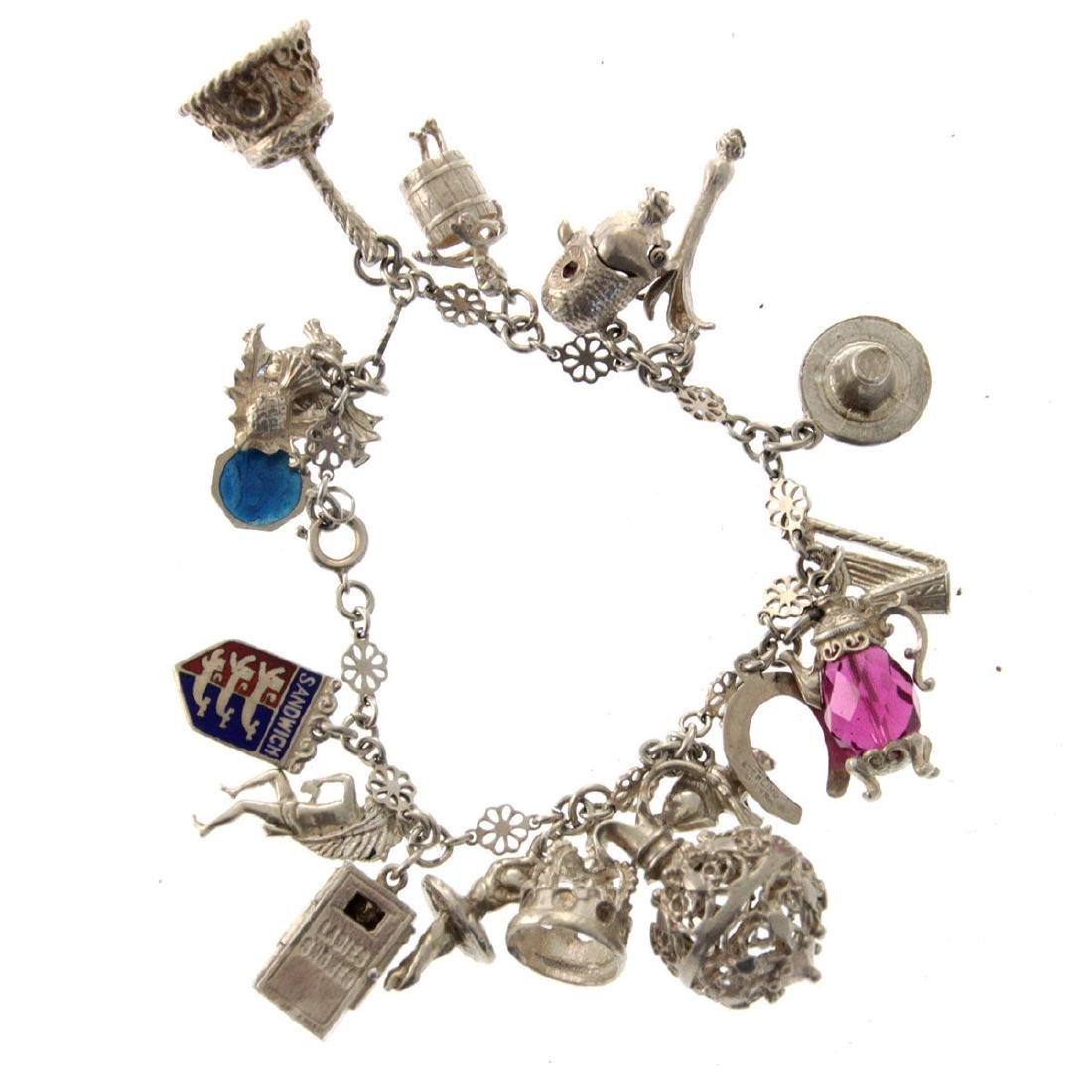 Sterling Silver Charm Bracelet.