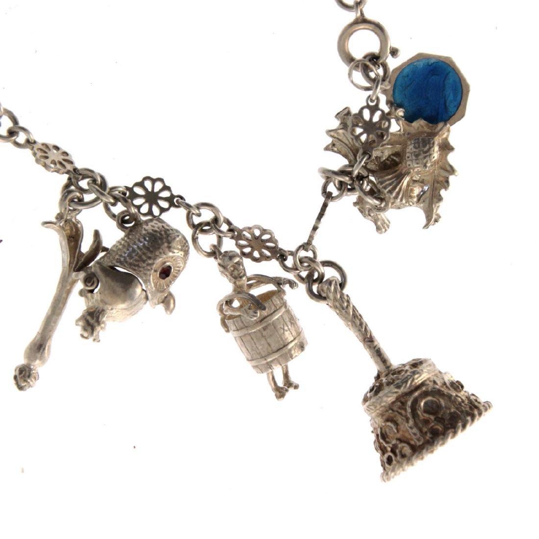 Sterling Silver Charm Bracelet. - 3