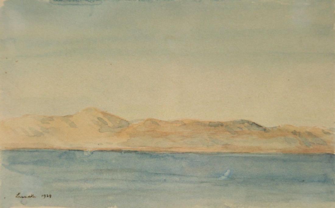 Hermann Struck - Larnaka, Watercolor on Paper, 1934.