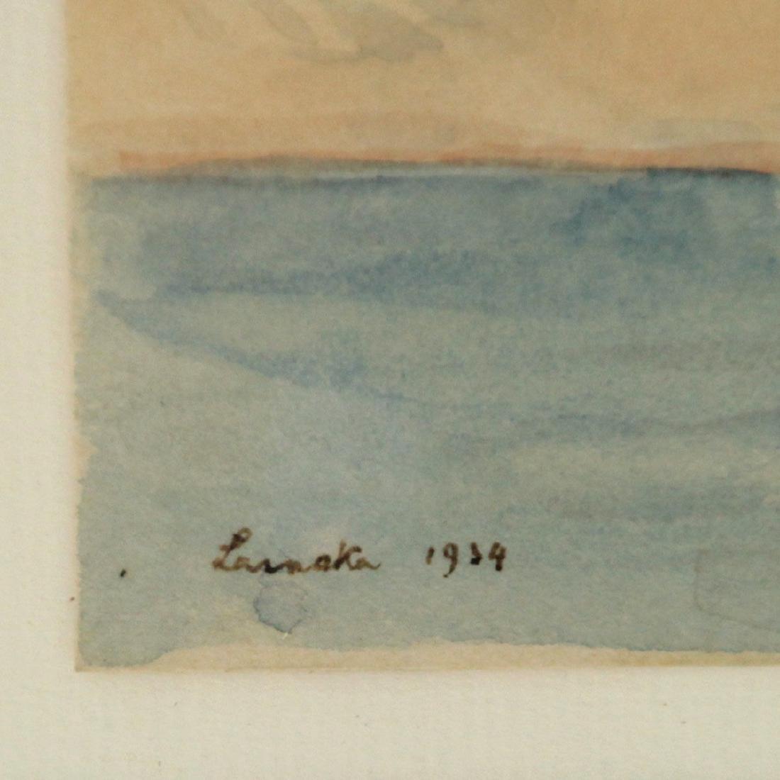 Hermann Struck - Larnaka, Watercolor on Paper, 1934. - 3