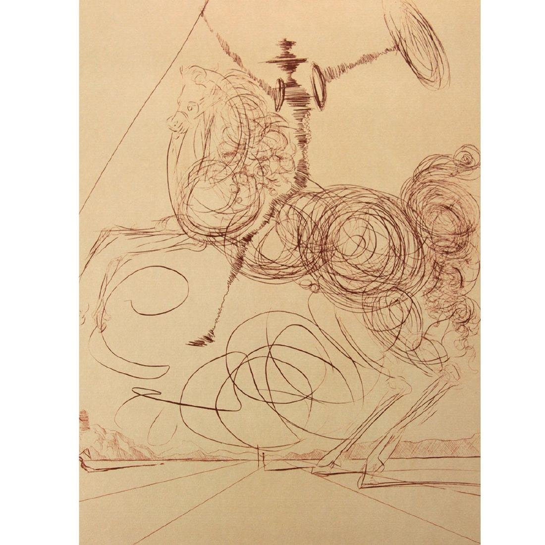 Salvador Dali - Don Quichotte (Quixote), Signed