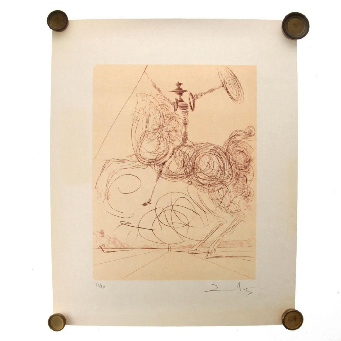 Salvador Dali - Don Quichotte (Quixote), Signed - 2