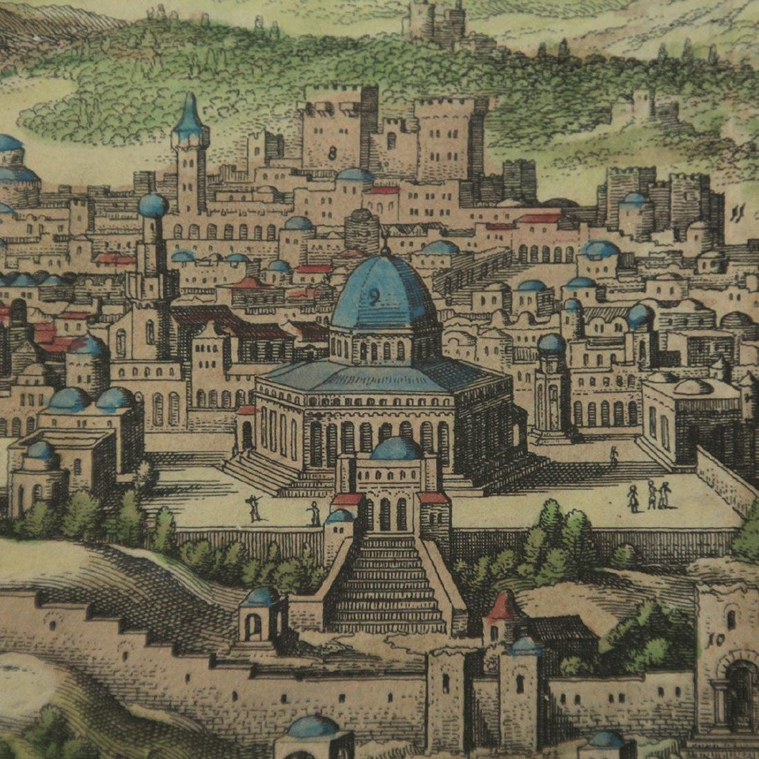 Ierusalem - Panoramic Map View of Jerusalem, Probably - 4