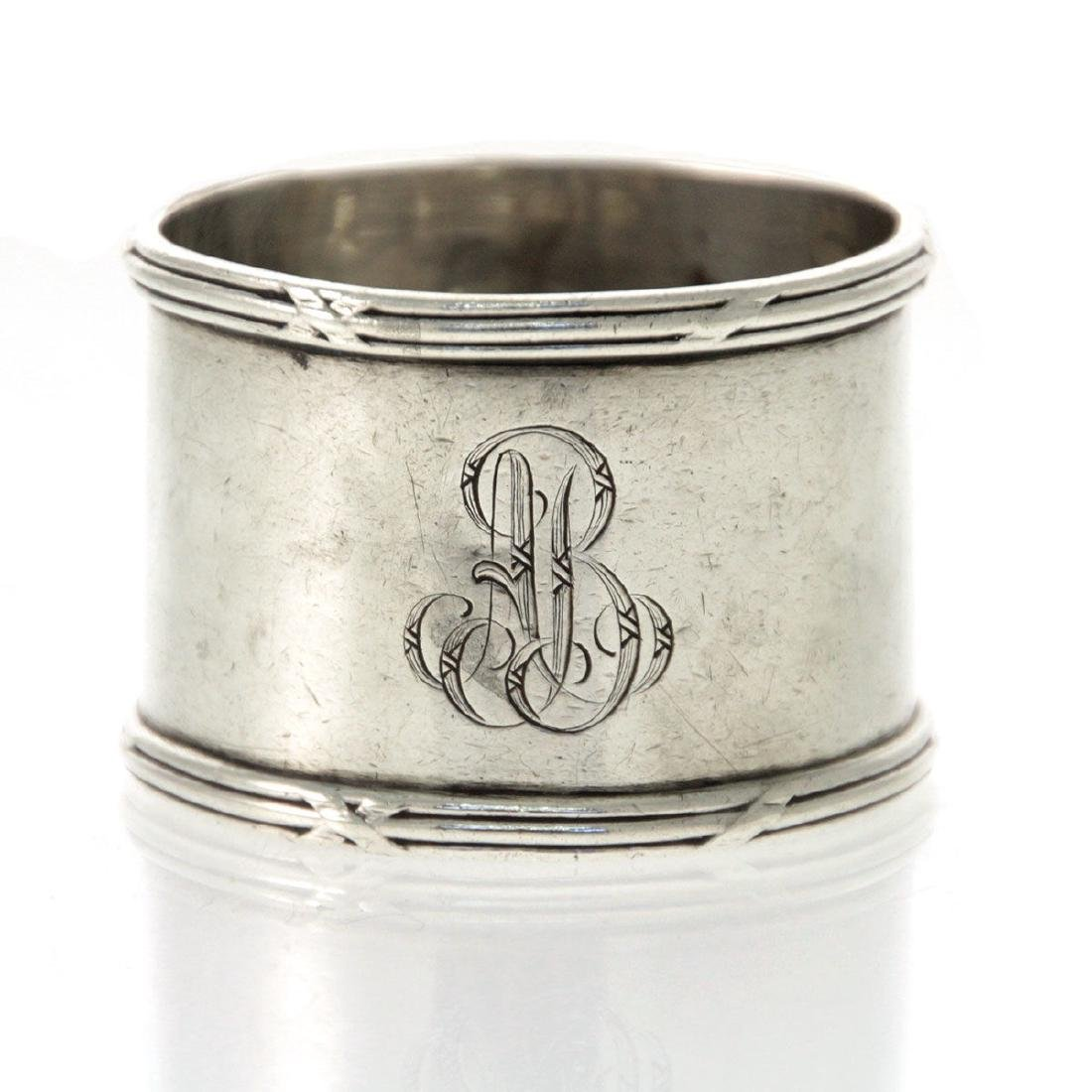 Emile Puiforcat Sterling Silver Napkin Ring, Paris,