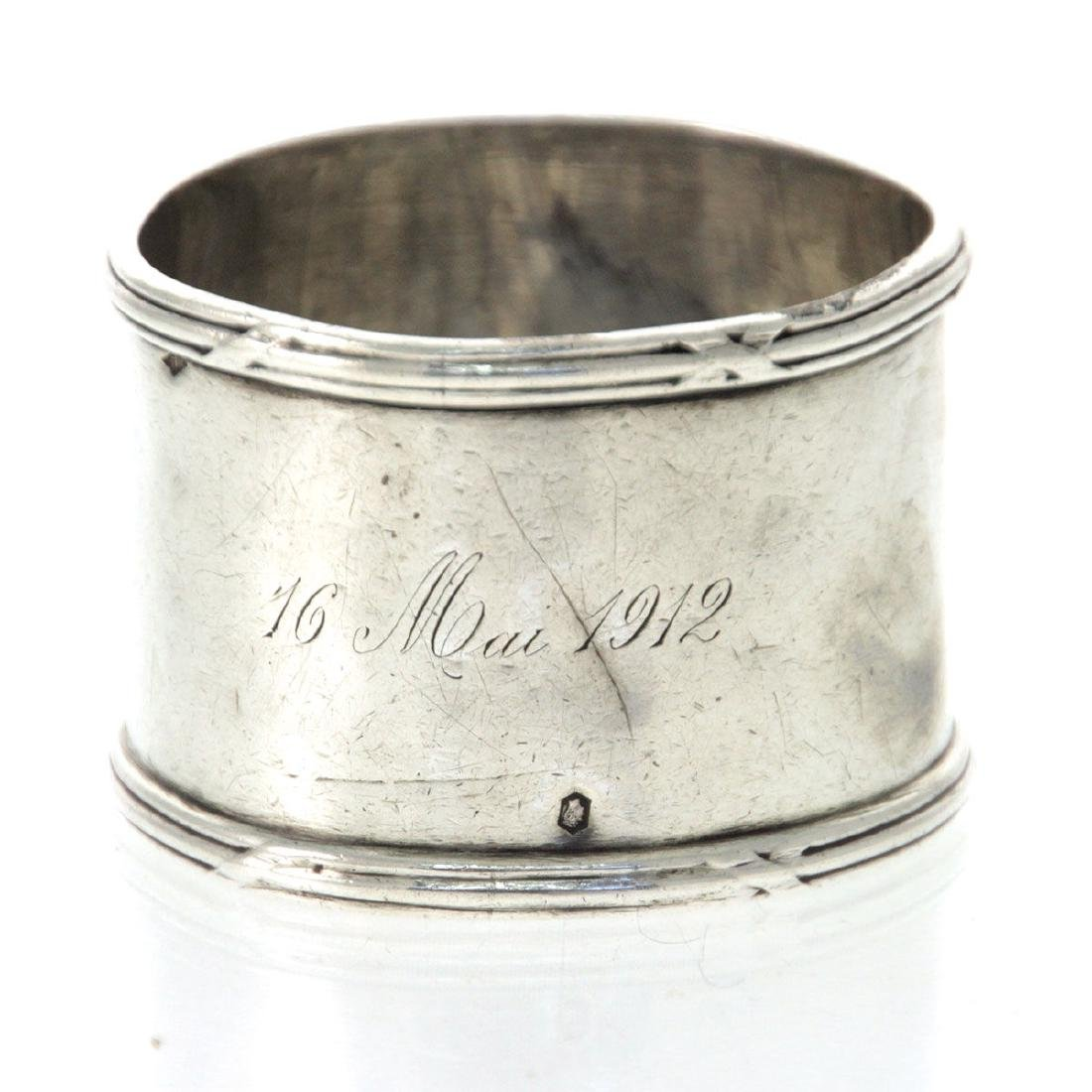 Emile Puiforcat Sterling Silver Napkin Ring, Paris, - 2