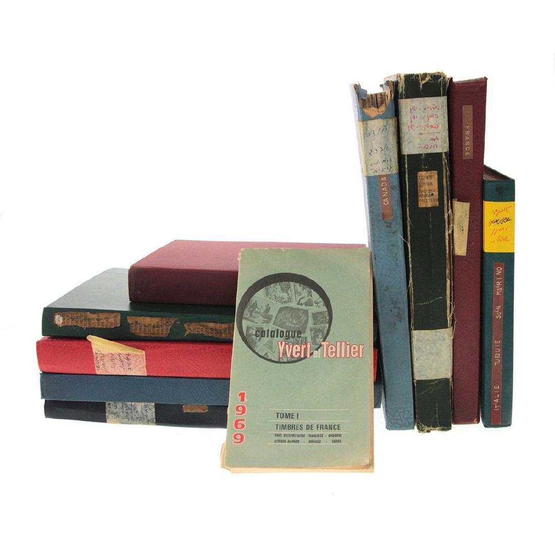 Nine Stamp Albums.