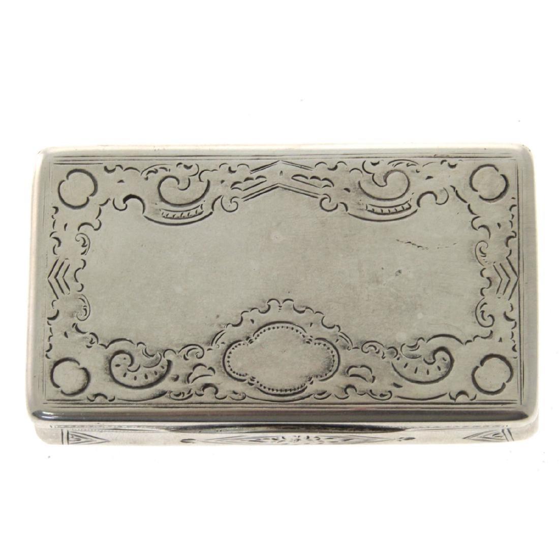 Antique Silver Snuff Box, Vienna, Austria, 1868. - 2