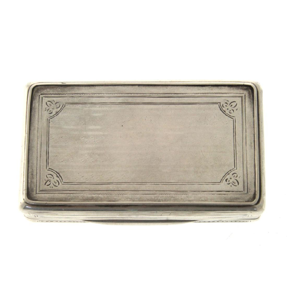 Antique Silver Snuff Box, Vienna, Austria, 1868. - 4