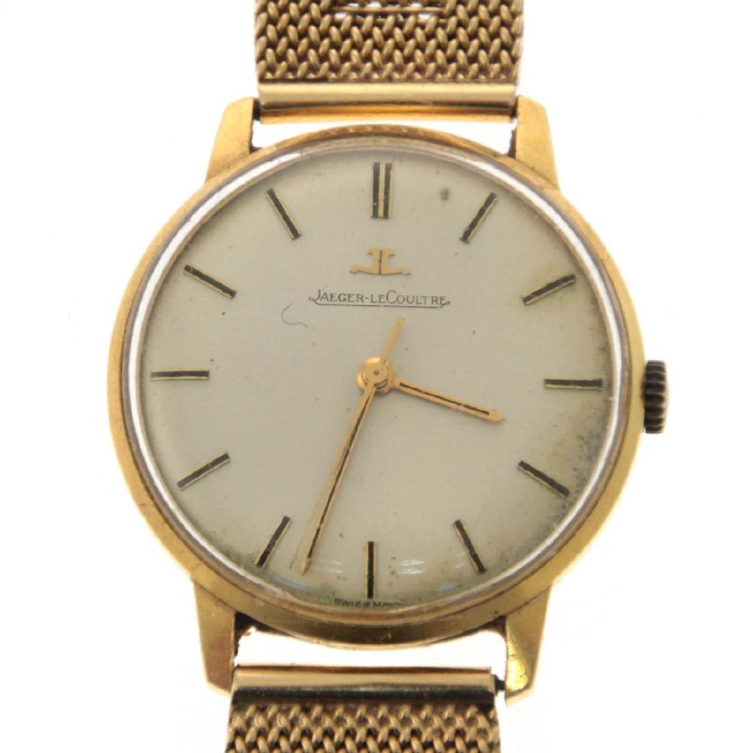 Jaeger Lecoultre 18k Yellow Gold Wrist Watch.