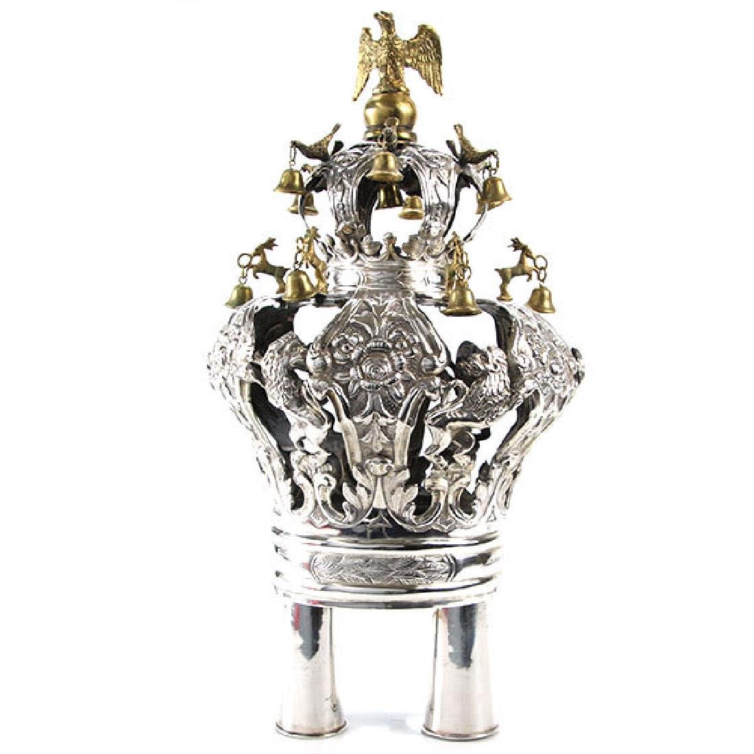 Silver Torah Crown, Moszek Charlap, Warsaw, Poland,