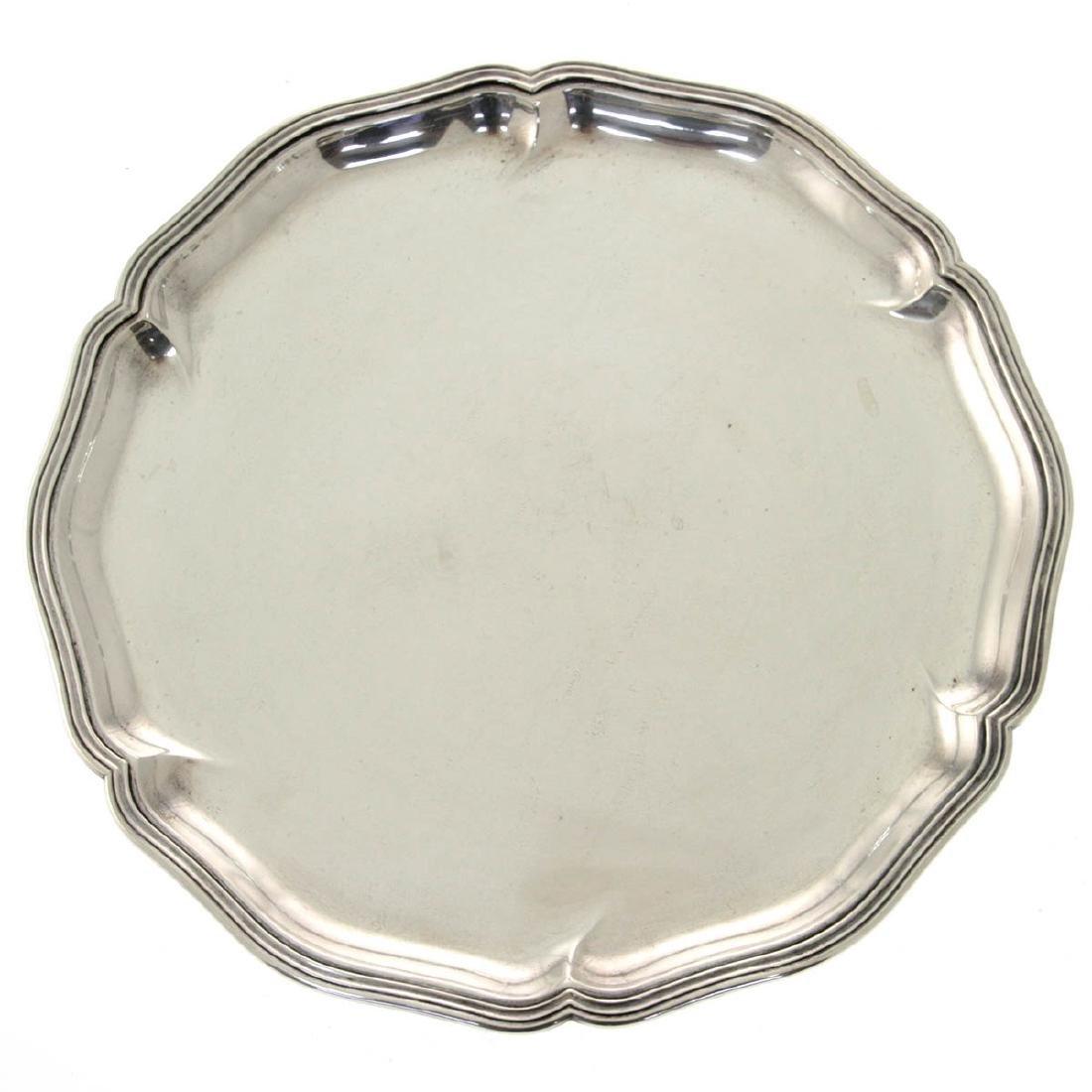 Silver Circular Tray, G. Hermeling, Germany, Circa