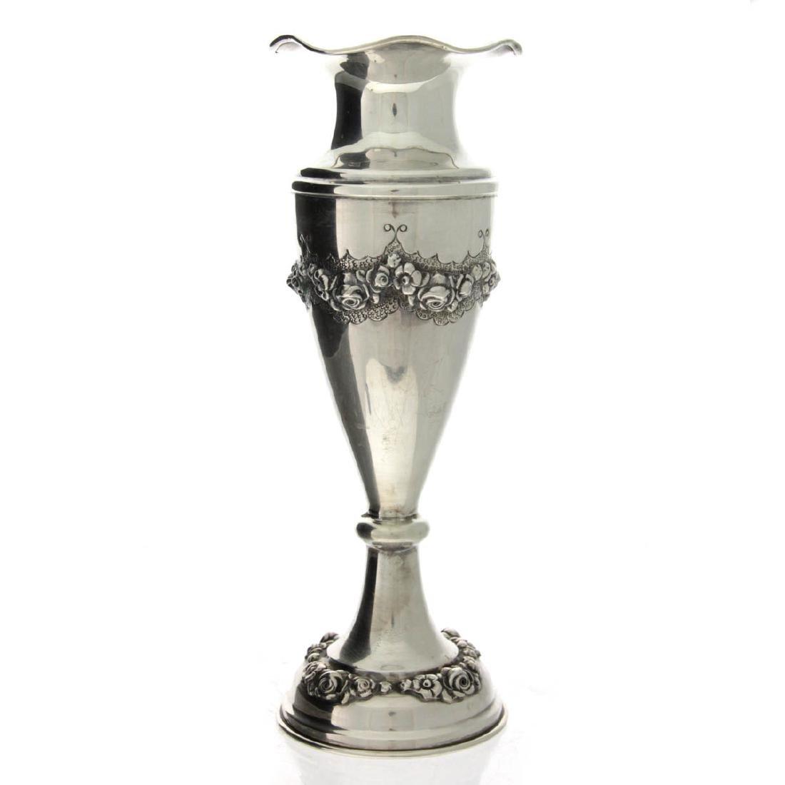 Hazorfim Sterling Silver Vase.