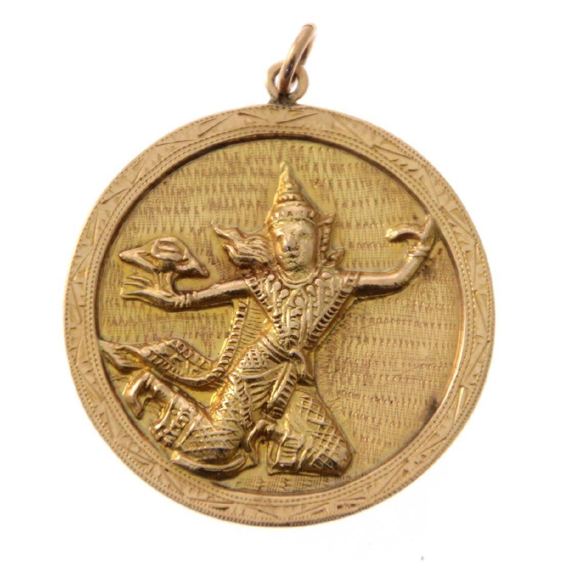 14k Yellow Gold Pendant.