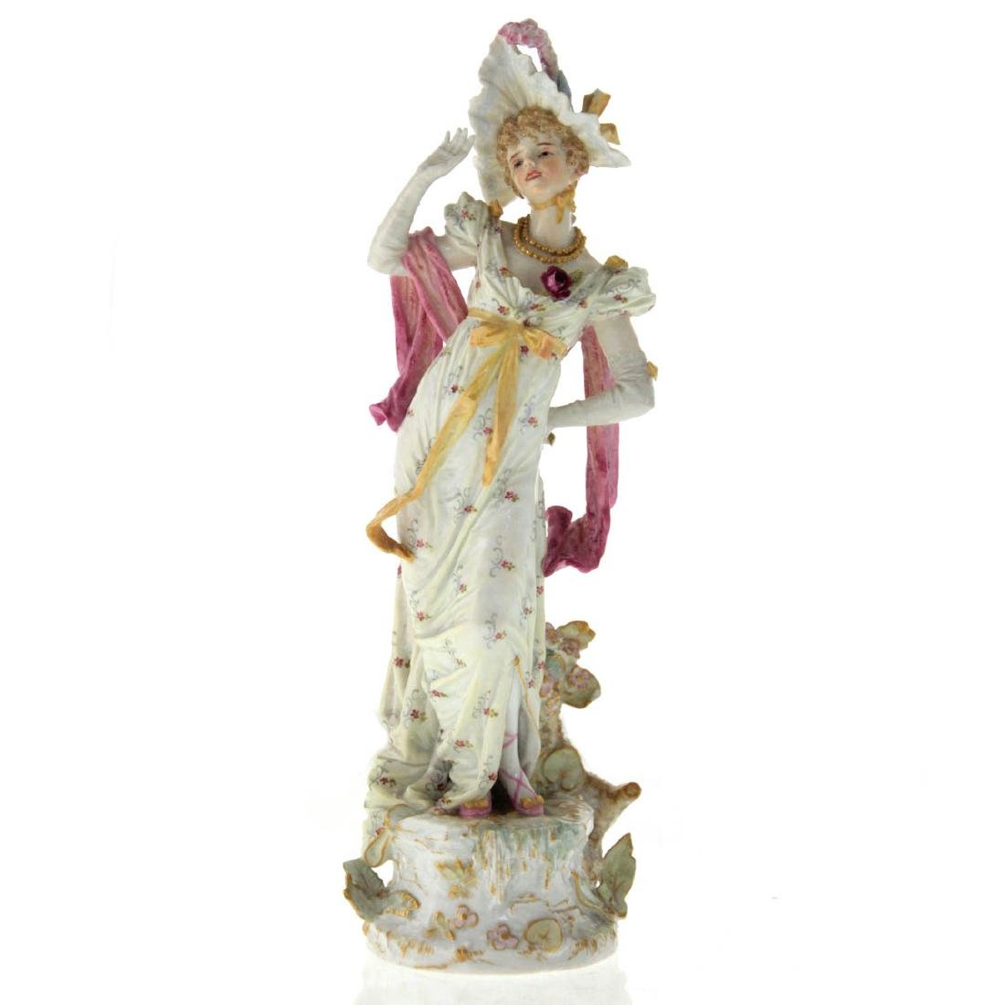 Meissen Porcelain Figure of a Young Lady, 19th Century.
