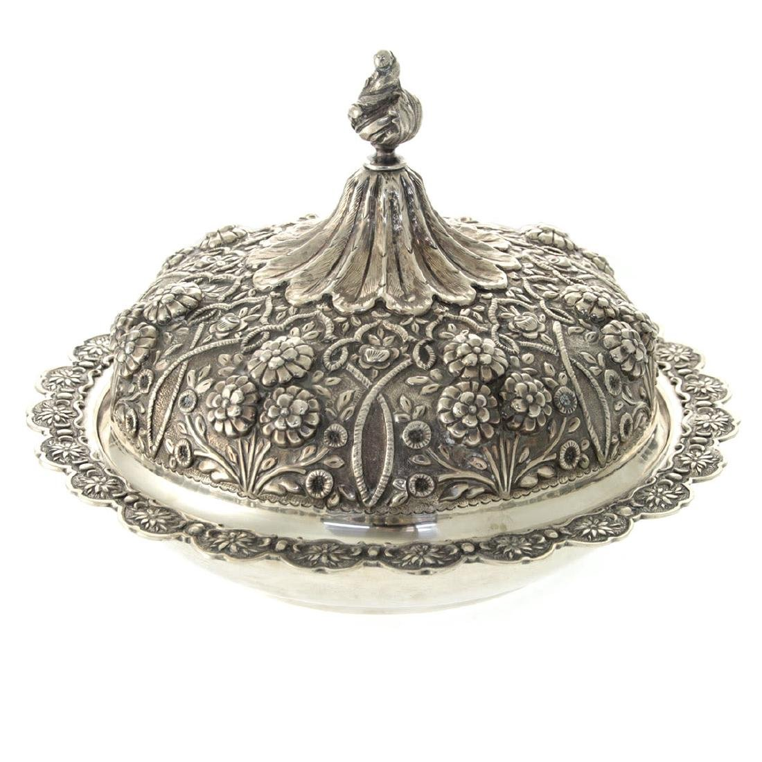 Impressive Sterling Silver Serving Dish Bowl and Cover.