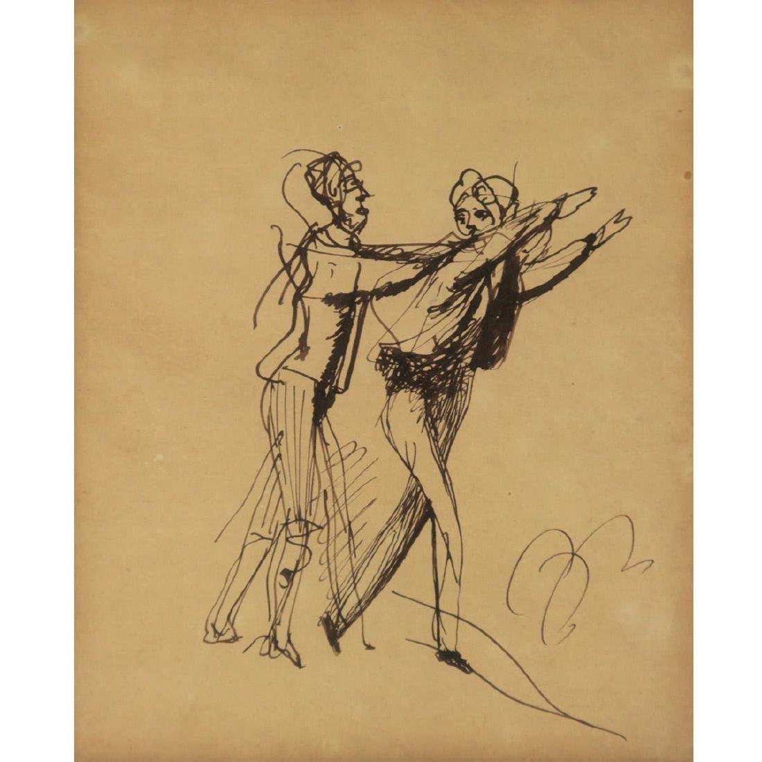 Balthus Balthasar Klossowski de Rola - The Pursuit, Ink