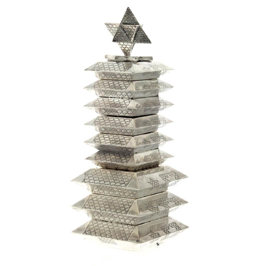 Unique - Sterling Silver Havdallah Set Designed by