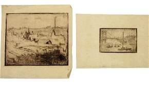 Hermann Struck (1876-1944) - Six New York Etchings.