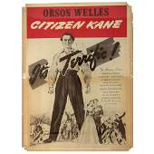 Orson Welles Citizen Kane Movie Poster, 1940's.