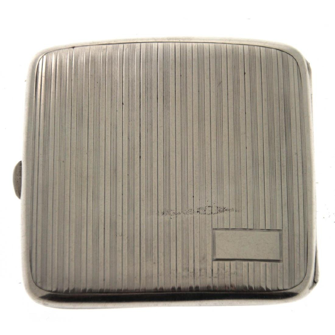 Art Deco Sterling Silver Cigarette Case, Charles S.