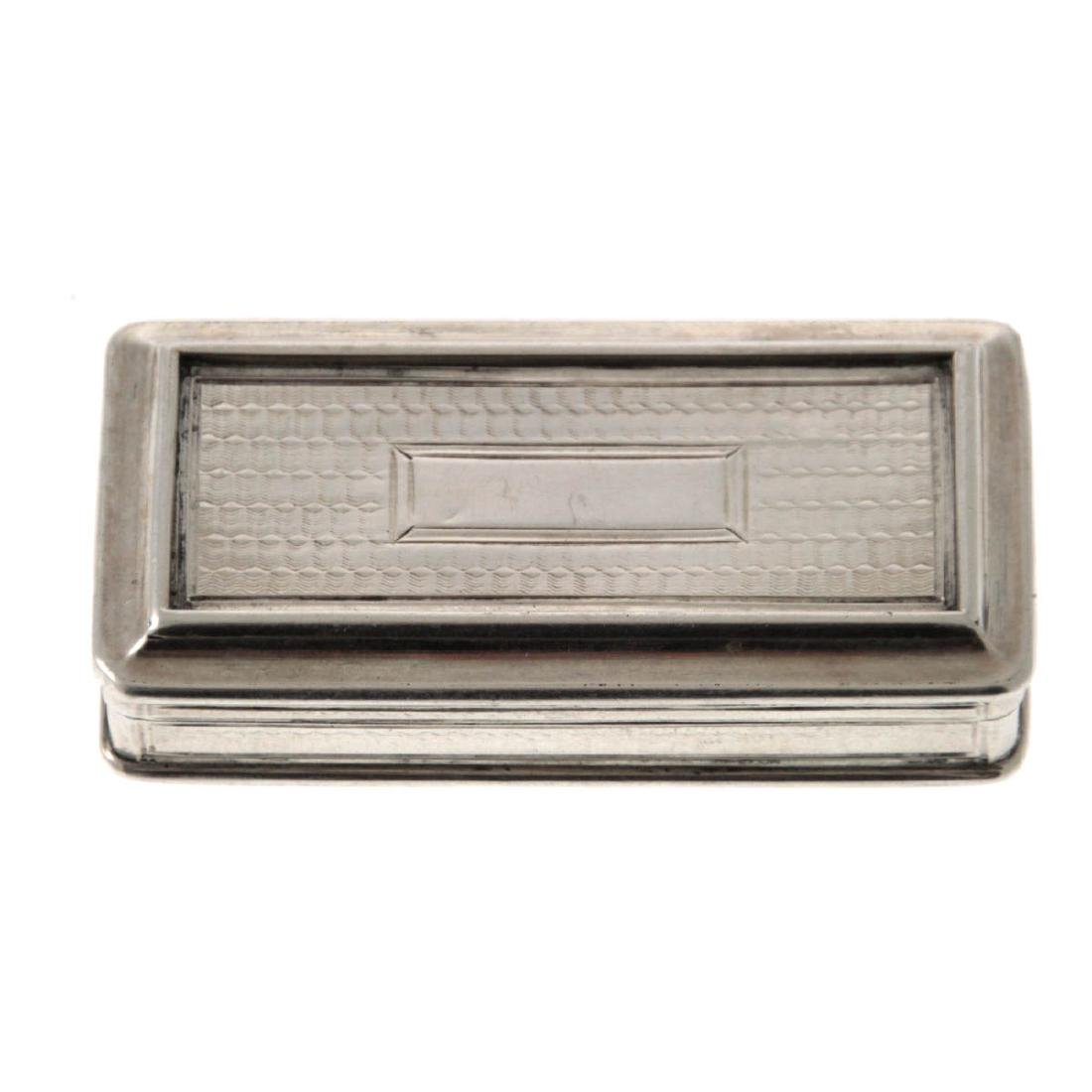Sterling Silver Tobacco Snuff Box, Taylor & Perry,