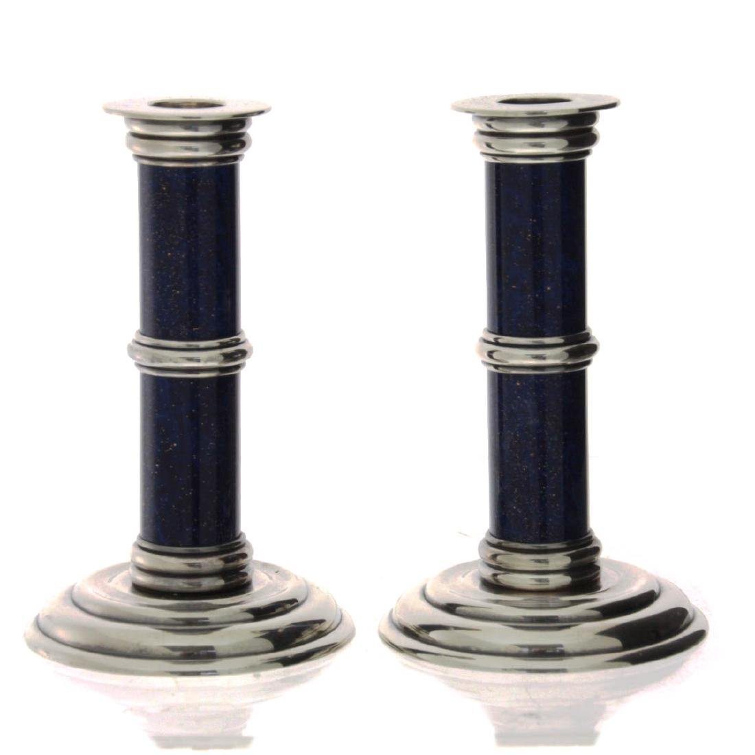 French Pair of Puiforcat Candlesticks.