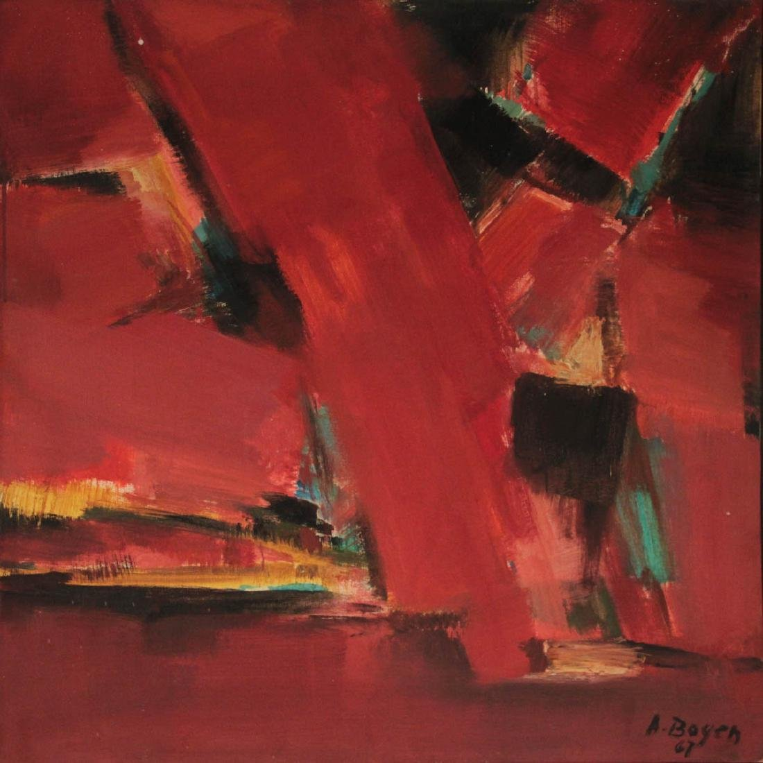 Alexander Bogen (1916-2010) - Abstract, Oil and Canvas,