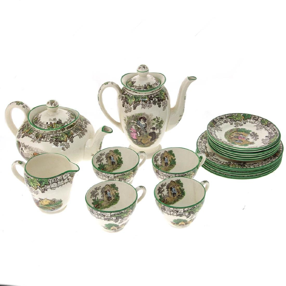 Copeland Spode Byron Tea and Coffee Service.