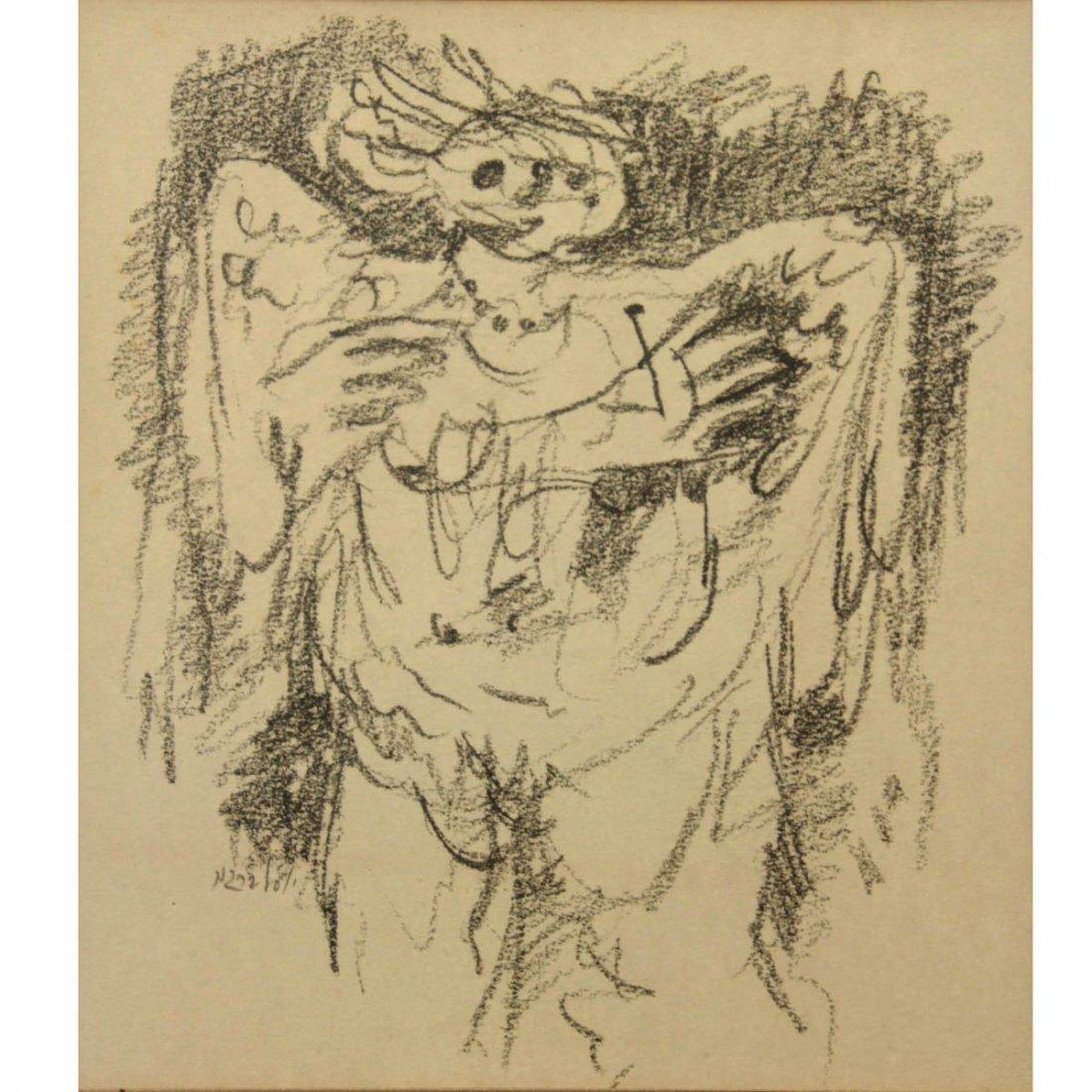 Yosl Bergner (1920-2017) - Pencil on Paper.