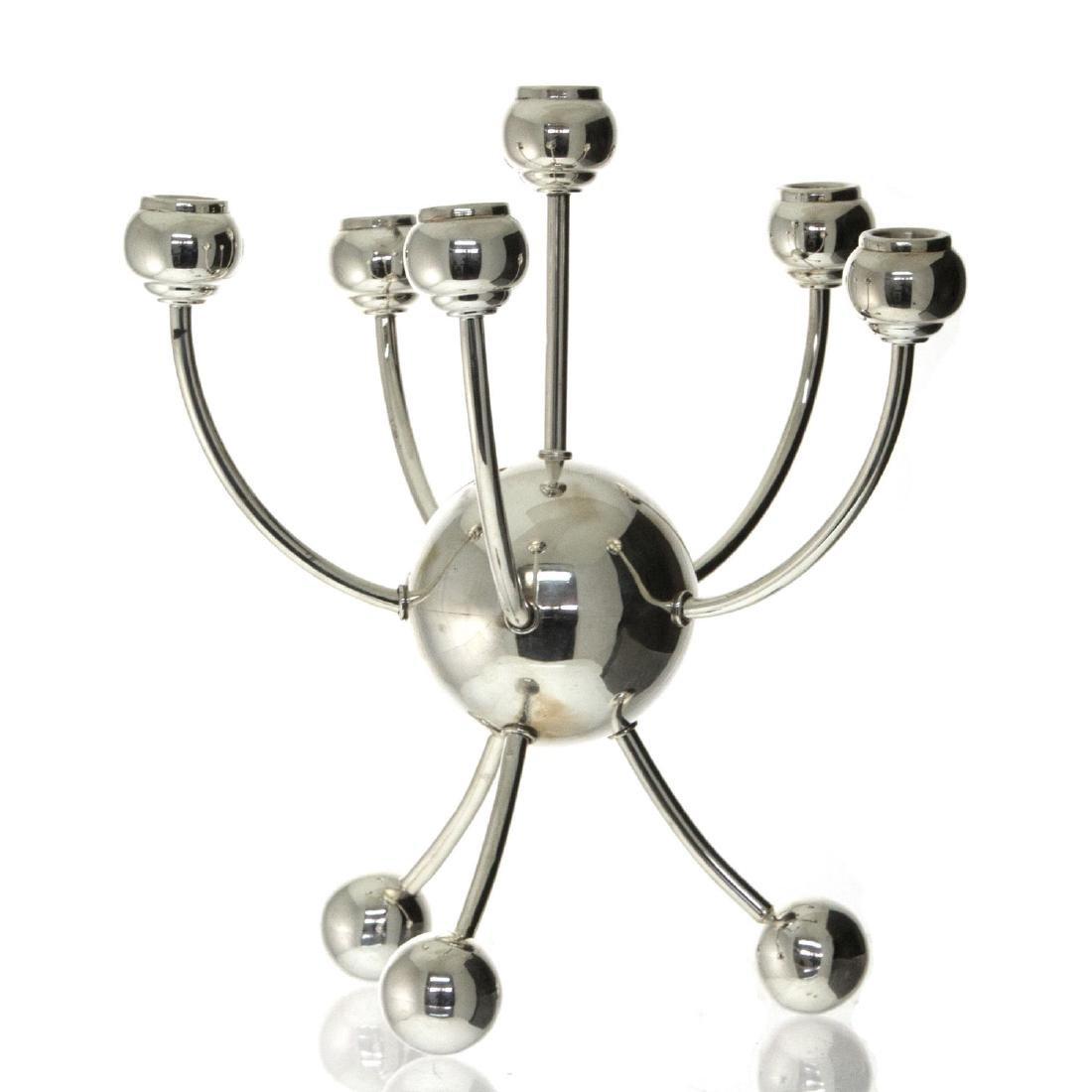 Sterling Silver Six Light Candelabra.