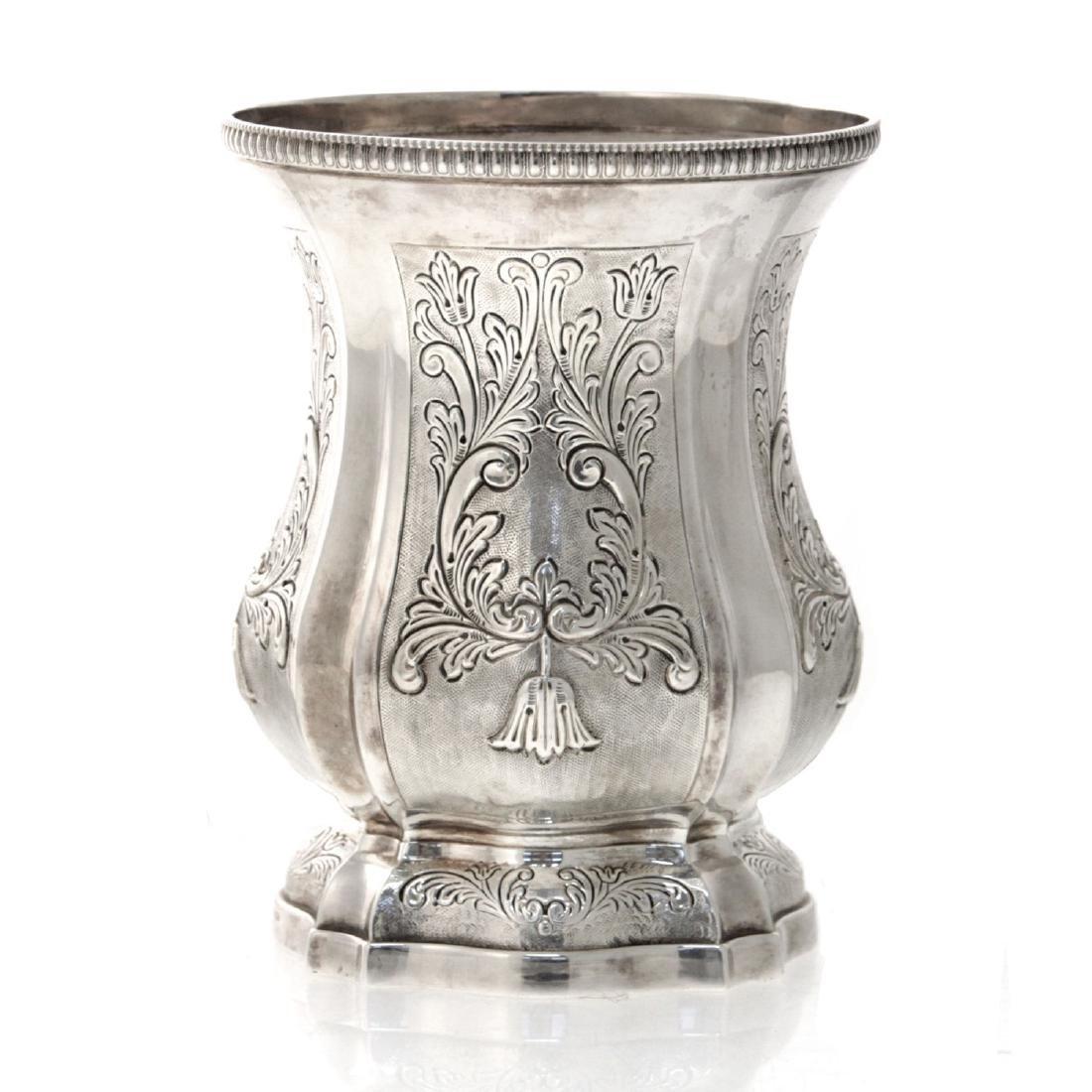 Hazorfim Sterling Silver Vase. - 2